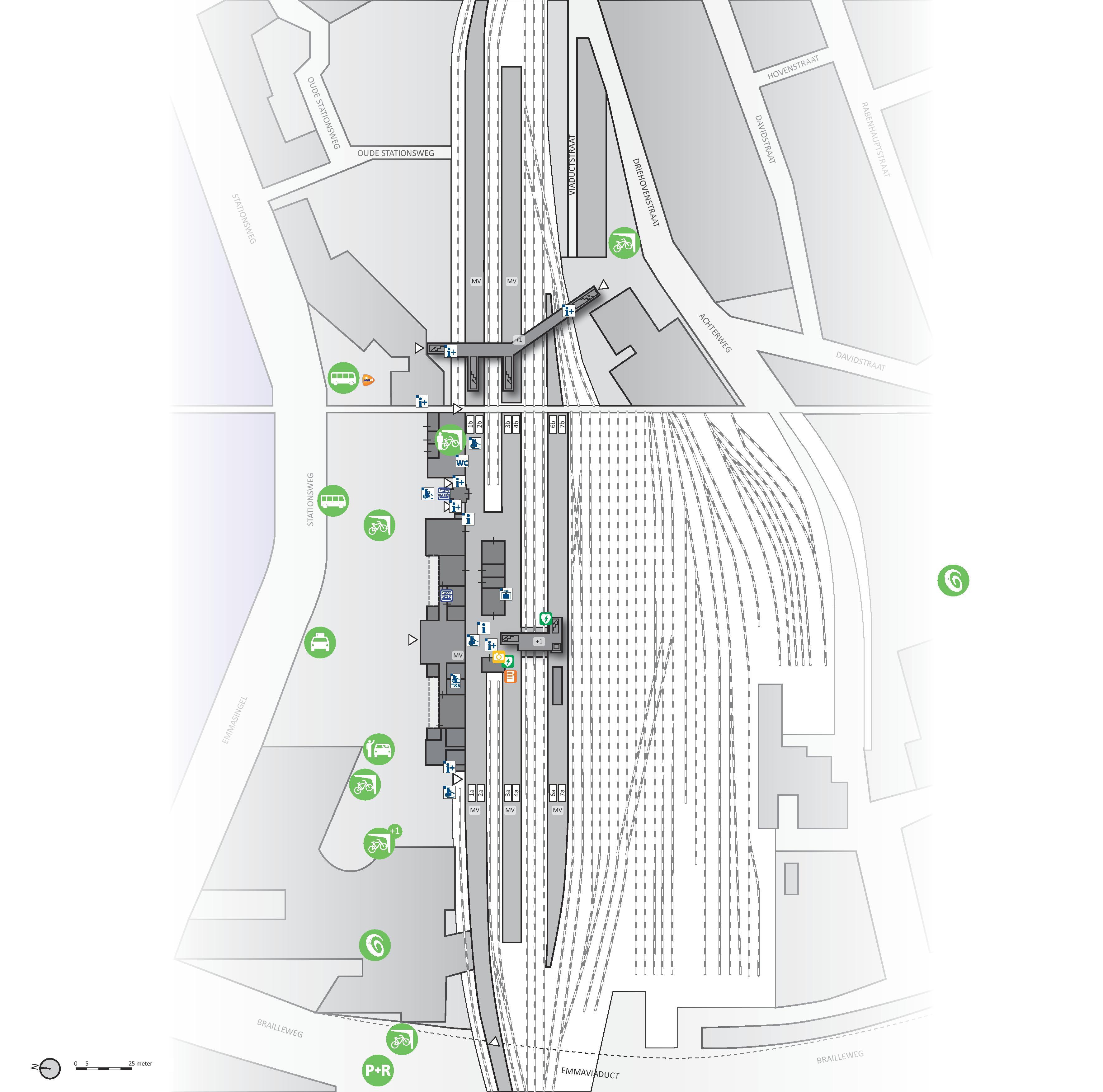 Plattegrond Station Groningen